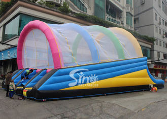 Commercial grade ramp shape outdoor adults inflatable obstacle slide on sale from Sino Inflatables