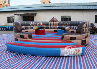6m Dia. kids N adults ancient inflatable gladiator jousting arena with completely digital printing